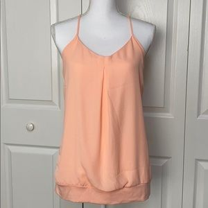Maurices Peach Lace back tie camisole